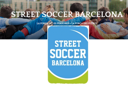 Social collaboration with STREET SOCCER BARCELONA